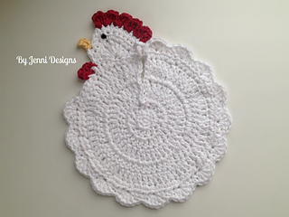 Ravelry Chicken Pot Holder Pattern By Jenni Catavu