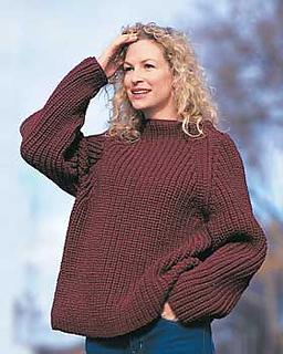 Chunky Knit Sweater Pattern Free : Ravelry: Shaker Rib Sweater pattern by Bernat Design Studio
