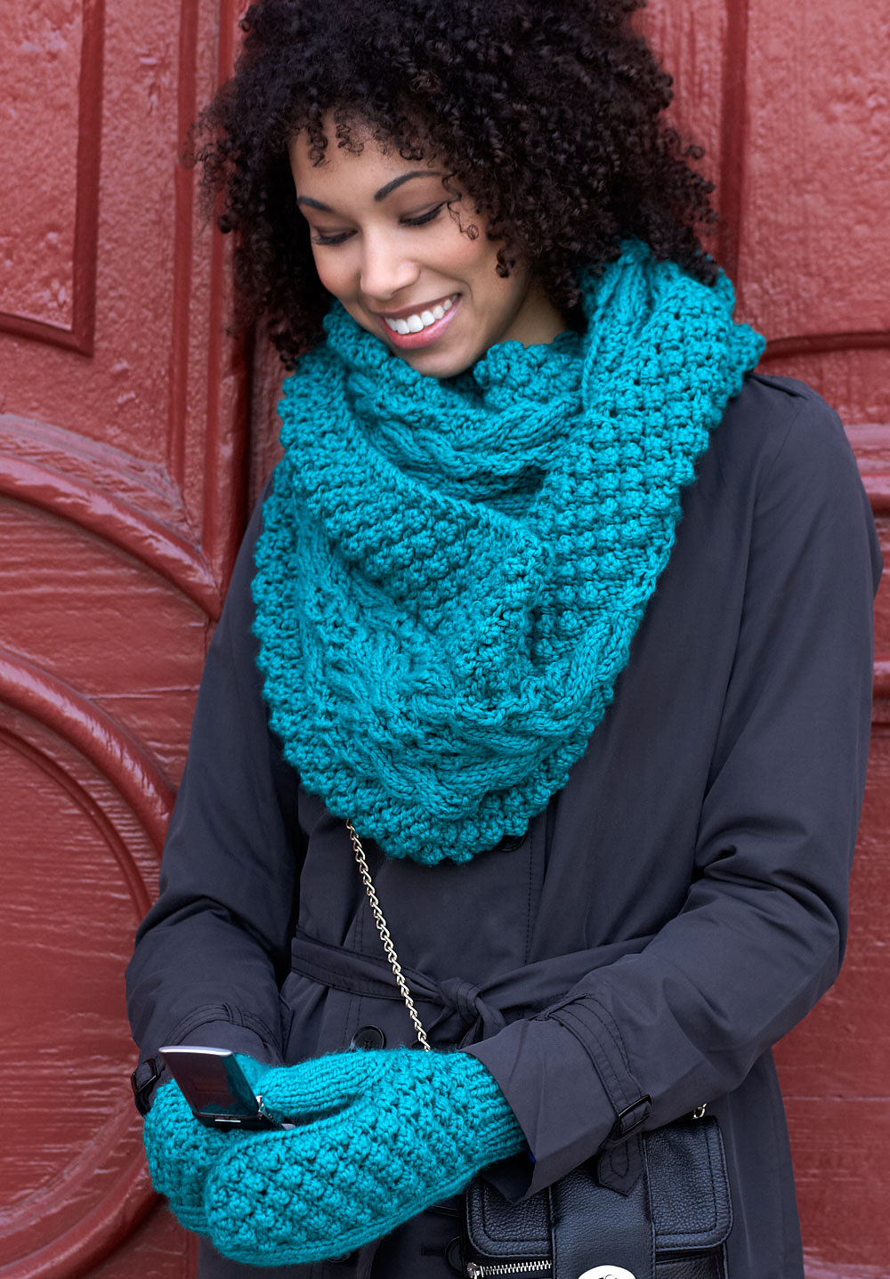 Схема вязания шарф-снуд.