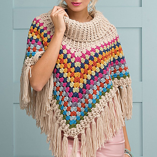 Ravelry Cowl Neck Poncho Pattern By Simone Francis