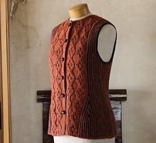 Ravelry: An Aran-Stitch Vest pattern by Anna Zilboorg