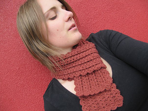 A Beautiful Ramble Urban Shells Scarf Free Crochet Pattern