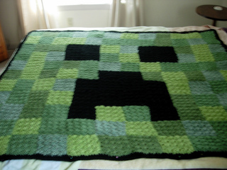 Ravelry Kecall2011 S Wright S Minecraft Creeper Blanket