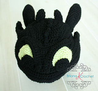 Knitting Pattern Toothless Dragon : The gallery for --> How To Train Your Dragon Toothless Hat