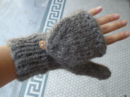 Knitting Pattern For Flip Top Mittens : Virginia is for...: Finished Object: Cynthias Shroom