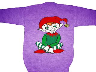 Christmas Elf Jumper Knitting Pattern : Ravelry: Christmas Elf Jumper / Sweater Knitting Pattern pattern by Blonde Mo...