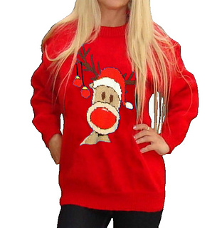 Ravelry: Christmas Rudolph Reindeer Jumper #15 pattern by Blonde Moments