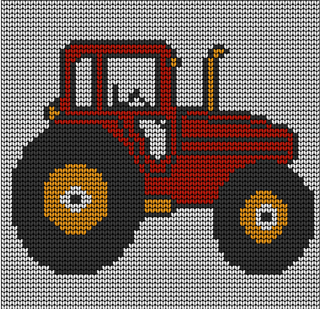 Knitting Pattern With Tractor Motif : Ravelry: Toddlers red tractor jumper knitting pattern pattern by irene court