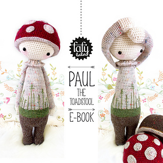 Amigurumi Dolls By Artist Lydia Tresselt : Ravelry: lalylala PAUL the toadstool pattern by Lydia Tresselt