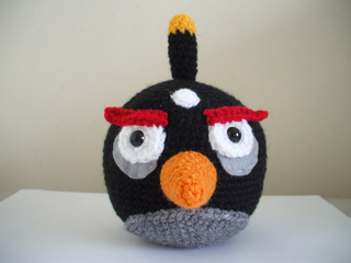 Ravelry: Angry Birds - Black Bird pattern by Adorable ...