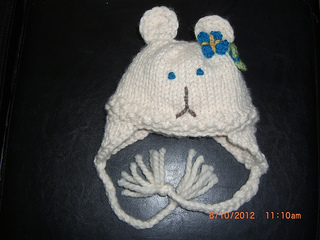 Ravelry: Bulky Knit Bear Ear Flap Hat with Crochet Ears ...