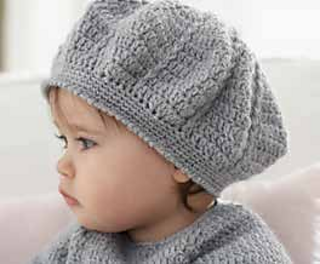 Knitted Beret Pattern Toddler : Ravelry: I Heart My Dress Set: Beret pattern by Patons