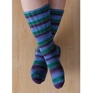 Ravelry: Two at Once, Toe-Up Magic Loop Socks pattern by Knit Picks Design Team