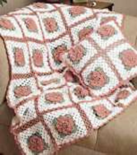 Crochet Pattern Rose Trellis Afghan : Ravelry: Rose Trellis Afghan & Pillow: Afghan (archived ...