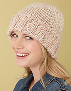 Simple Beanie Hat Knitting Pattern : Ravelry: Simple Hat #L10365 pattern by Lion Brand Yarn