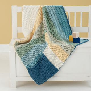 Ravelry log cabin pocket blankie pattern by lion brand yarn for Log cabin blanket