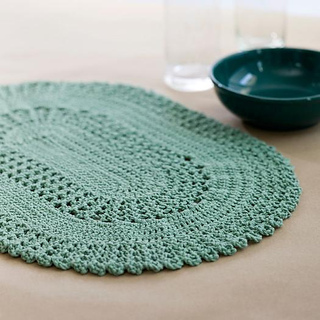Ravelry Table Lace Placemat Pattern By Coats Design Team