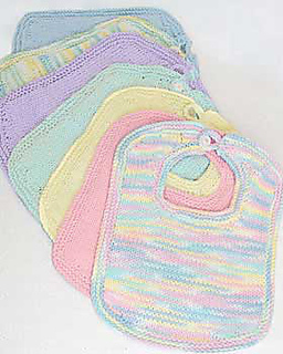 Bernat Crochet Baby Bib Pattern : Ravelry: Baby Knit Bibs and Booties pattern by Bernat ...