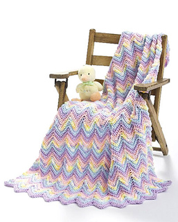 How to Make a Ripple Pattern Baby Afghan   eHow