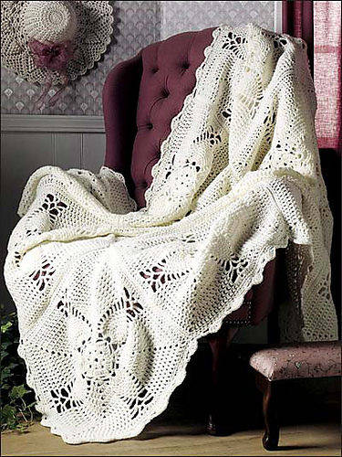 Country style home decor_crochet blanket