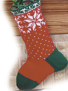 Ravelry Christmas Snowflakes Stocking Pattern By Laura