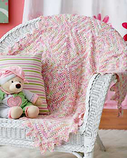 Ravelry Mitered Lace Blanket Pattern By Bernat Design Studio