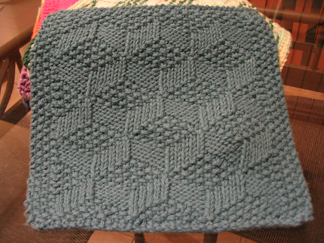 Adventures In Knit Design 3 D Dishcloth Pattern Danielle Cote