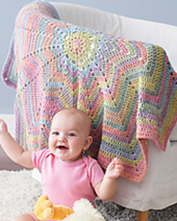 Ravelry From The Middle Baby Blanket Pattern By Bernat