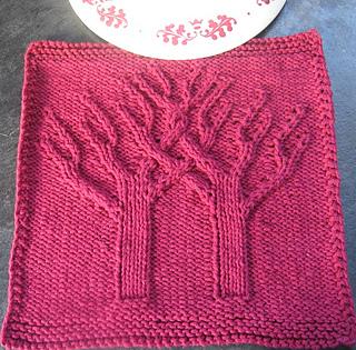 Free Knitting Pattern Tree Dishcloth : Ravelry: Banyan Tree Practice Dishcloth Afghan Square Block pattern by Margar...