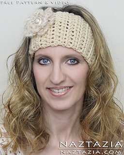 Ravelry Easy Head Band Wrap With Flower Pattern By Naztazia