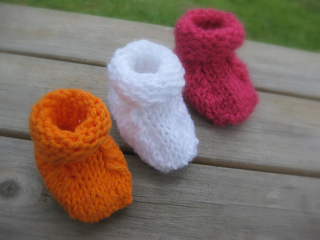 Ravelry Simple Seamless Baby Booties Pattern By Joy Morgan