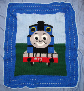 Thomas Knitting Pattern : Ravelry: nleon307s Thomas the Train Blanket