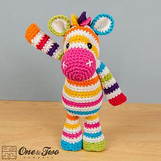 Amigurumi Zebra Crochet Pattern : Ravelry: Rainbow Zebra Amigurumi pattern by Carolina Guzman