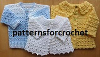 Ravelry Matinee Coat Baby Crochet Pattern Book Pattern By