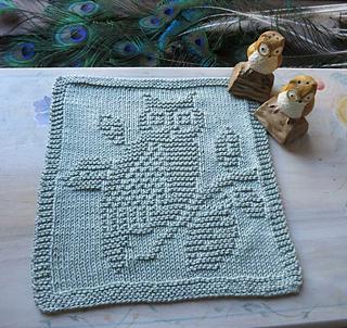 Knit Pattern For Owl Dishcloth : Ravelry: Spuli Eule auf Zweig pattern by Mamafri