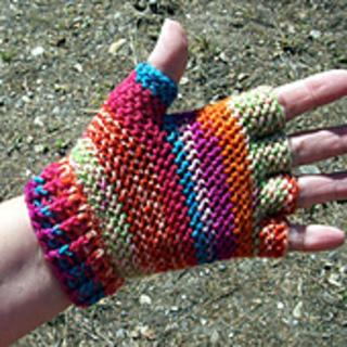 Ravelry: Half-finger Hobo Gloves pattern by Pam Daley