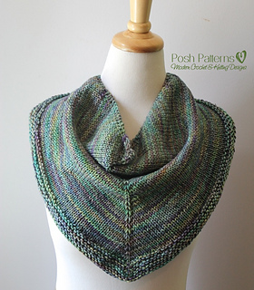 Ravel Knitting Patterns : Ravelry: Triangle Cowl Shawl Knitting Pattern 370 pattern by Posh Patterns