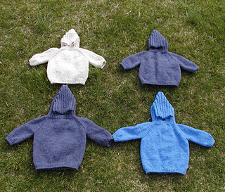 Ravelry Hooded Baby Sweater With Back Zipper Pattern By
