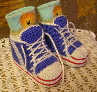 Free Crochet Pattern For Baby Converse : Ravelry: Crochet baby sneakers pattern by Schyrk
