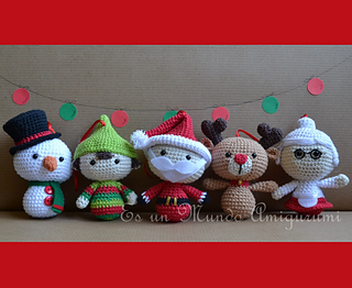 Ravelry: Christmas Big Heads Figures pattern by Es un ...