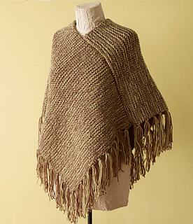 Knitting Loom Scarf Fringe : Ravelry: Loom Knit Fringed Poncho pattern by Lion Brand Yarn