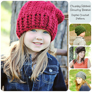 Learn to crochet Easy Ribbed Beanie/Cap Style 1 (Tambien