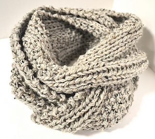 Infinity Scarf Knitting Pattern Ravelry : Ravelry: Two Row Textured Infinity Scarf pattern by ...