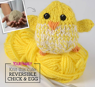Ravelry: Reversible baby chick pattern by Samantha Steele