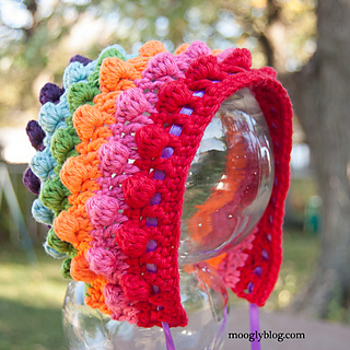 Free Crochet Pattern Baby Reindeer Hat : Ravelry: Blackberry Salad Striped Baby Bonnet pattern by ...