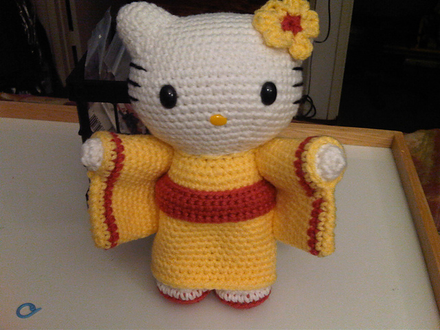 theknittycats tips & techniques: Hello Kitty in Kimono ...