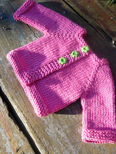 Free Knitting Pattern Doll Cardigan : tikki: Free Patterns