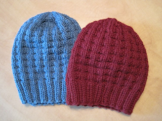 Waffle Stitch Knit Hat Pattern : Ravelry: Bulky Waffle Hat pattern by Linda Suda
