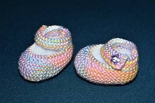 Gallery of Basic Mary Jane Baby Booties Free Knitting Patterns With
