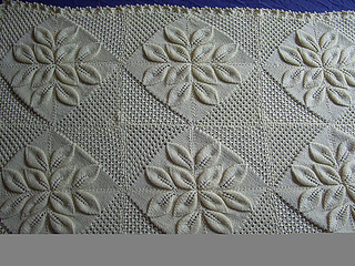 Ravelry Pram Cover Rug With Embossed Leaves Pattern By